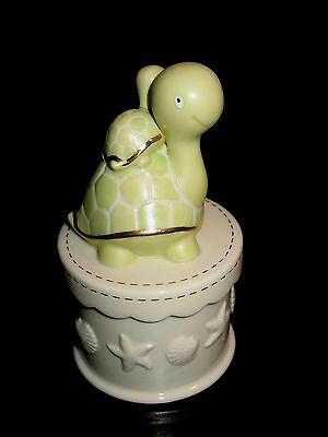 Lenox Turtle & Baby Porcelain Covered 2 Piece Trinket Box New $43 Retail