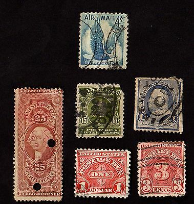 Stamps ~ UNITED STATES AMERICA USA ~ Early POSTAGE DUE Internal Revenue etc.