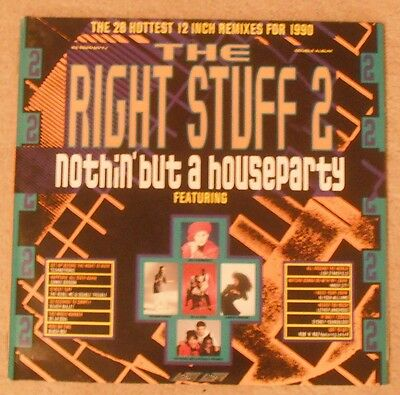 The Right Stuff 2 Nothin But A Houseparty Double Vinyl Album Various Artists