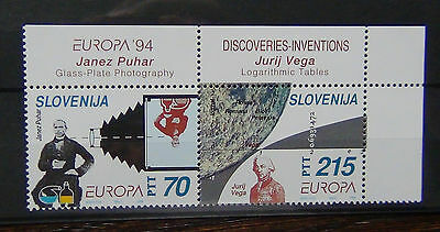 Slovenia 1994 Europa Discoveries and Inventions set MNH