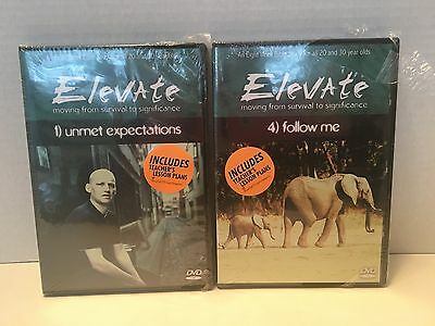 Elevate Bible Study DVDs 8 week *Lot of 2* unmet expectations follow me New
