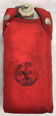 Vintage BSA Official Boy Scout of America Aluminum Canteen Mess Kit Red