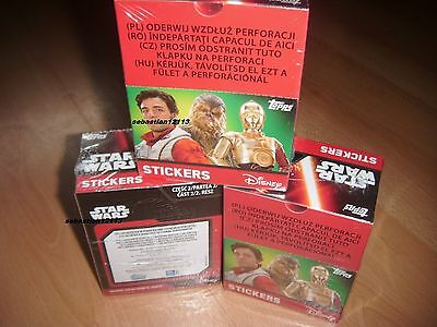 Topps Star Wars The awakening New and Closed box - 50 sachets part 2 stickers