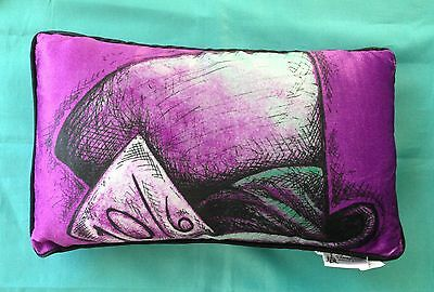 Disney Parks Alice In Wonderland Purple Mad Hatter Pillow