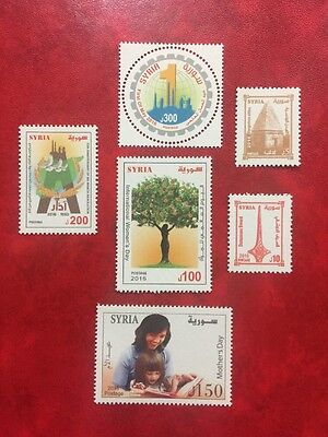 Syria Full 2016 MNH Stamps Rare Civil War Inflation Issues Idlib Emergency