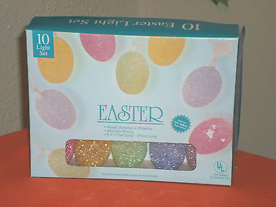 Easter 10 Light Easter Egg String Light Set