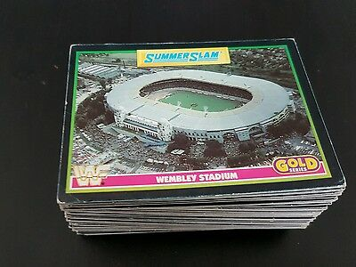 WWF WWE SUMMERSLAM 1992 Cards Part Complete 94/96 Merlin Gold Series Rare