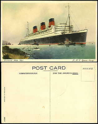 Cunard White Star RMS Queen Mary steamship ocean liner tug unused
