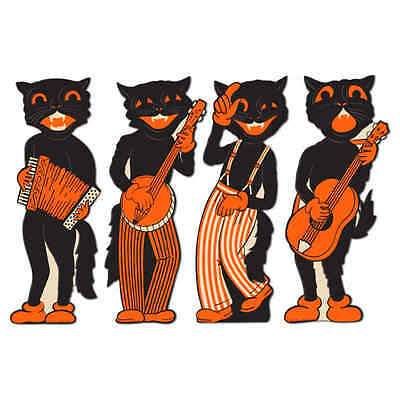 Beistle 4-Pack Scat Cat Band Cutouts, 17-Inch Top Quality ORIGINAL