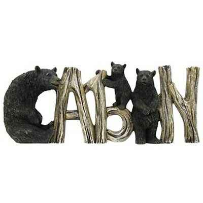 Black Bear Cabin Welcome Sign. Bear & Baby Bear. Home accent Decor