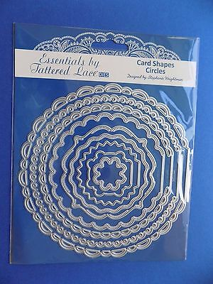 Tattered Lace CARD SHAPES CIRCLES Essentials 9 Dies