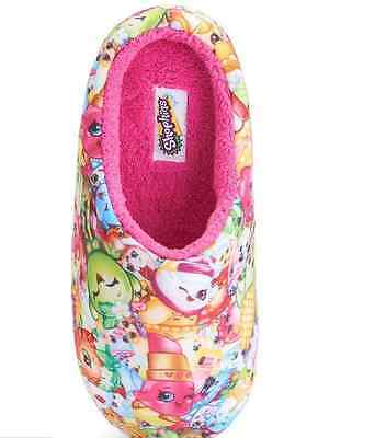 NWT Shopkins All Over Print Clogs Winter Soft Pink Girls Furry Slippers Sz 11-5