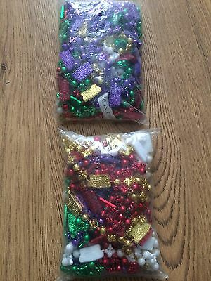 2 Packs (20)Southern Comfort Mardi Gras Bead Necklaces