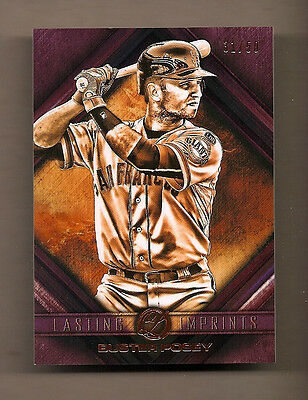 2016 Topps Legacy Lasting Imprints Buster Posey - # 31/50 - Rare Beauty! Giants