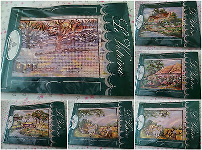 Kit ricamo Raqama mezzopunto - Embroidery kit half cross stitch ago fili tela