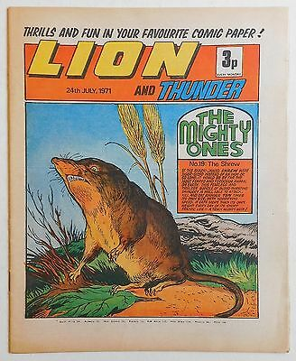 LION and THUNDER Comic - 24th July 1971