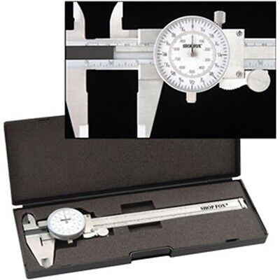 "6"" Precision Fractional Read Steel Dial Caliper Mic Tool Kit"