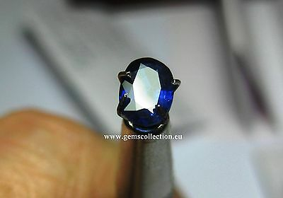 Aaa - Zaffiro Naturale-Sapphire Blue Ct 0.89 Pear Oval Madagascar Very Good