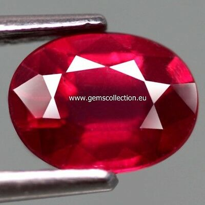 Aaa Natural Ruby- Rubino Ct 1.82 Si Top Blood Red Oval Cut Origin Madagascar