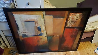 Large IKEA Textured Canvas Wall Art Oil Painting By Patrizio