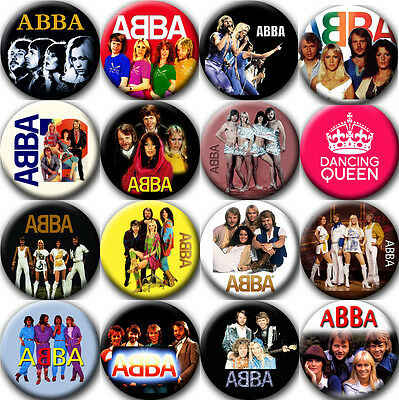 ABBA Badges Buttons Pins (1.5 inch - 38 mm) - 16 pieces