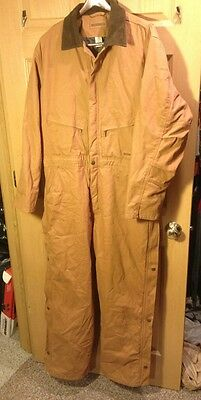 WOLVERINE COVERALLS Men's L BROWN - insulated-  heavyweight 42-44