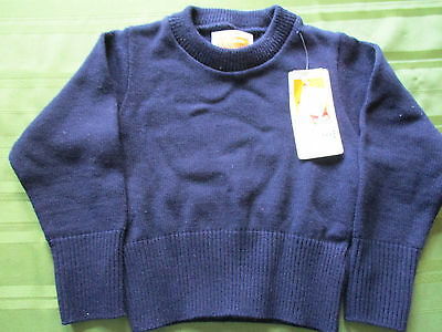 School Apparel Uniform Sweater Sz. Youth XXS, 5?, Navy Pullover, NWT Quality USA