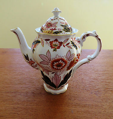 Antique Booths Coffee Pot DOVEDALE A8044 Imari Rust Blue Pattern England