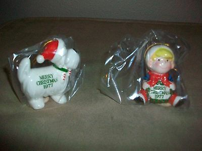 1977 Dennis the Menace & Ruff  Christmas Ornaments