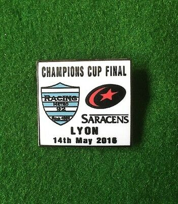 European Rugby Champions Cup Final Badge Saracens v Racing 92 14th May 2016