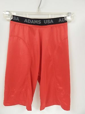 Adams Red Lightweight Sliding Shorts Youth Small (18/20) Sample