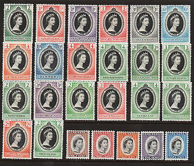 OPC 1953 Great Britain QEII Coronation Collection of 25 Mint Lightly Hinged