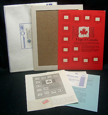 OPC Flags of Canada Postal Commemorative Society World Of Stamps Series Panel