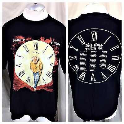 """Vintage 1993 Dwight Yoakam """"This Time"""" (XL) Graphic Country Concert T-Shirt"""