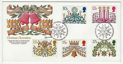 UK England First Day Cover # 928 - # 932 - Christmas 1980 - Cachet Fleetwood