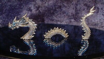 Pewter Little Loch Ness Sea Dragon with Crystal Eyes