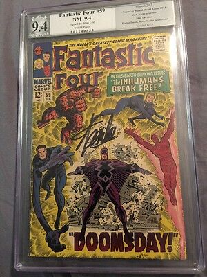 Fantastic Four 59 Signed By Stan Lee PGX 9.4 Auto Autograph Wizard World CGC ...