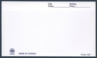 POSTAGE STAMPS - WINDOW CARDS - # 107 (White) - Pack of 100