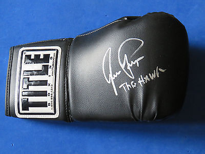"""AARON PRYOR SIGNED BOXING GLOVE ~ Insc. """"THE HAWK"""" ~ FULL SIZE TITLE GLOVE ~"""