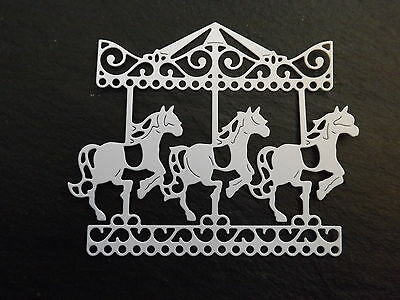 10 Tattered Lace die cuts CAROUSEL