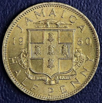 1950 Jamaica Half Penny Uncirculated * King George The Sixth