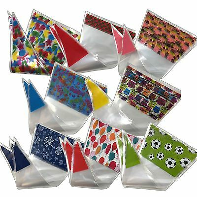 Funky Printed Cone Sweet Bags for Party Favours Birthday Candy Bag Celllophane