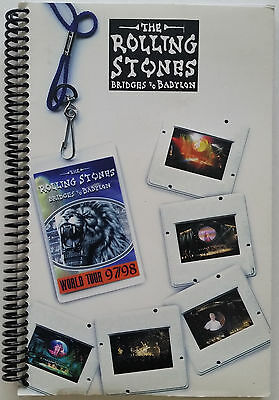 *** ROLLING STONES *** Aug. & Sept. 1998 Concert Tour itinerary book - CREW ONLY