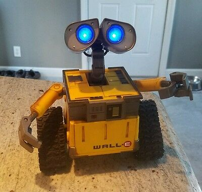 "RARE Disney Wall-E Thinkway Talking 7"" Robot Eyes Light & Arms Move EXC COND!"