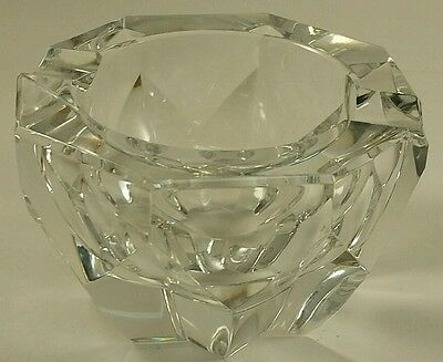 Baccarat France Crystal Ash Tray with Stamp