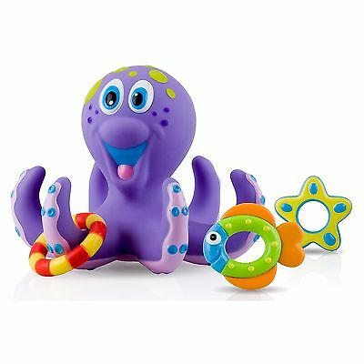 Bath Toys For Toddler Purple Octopus Hoopla Fun Bathtime Floating Water Play Toy