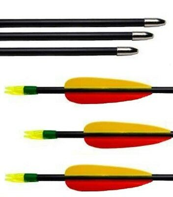 Petron Archery Fibreglass round end Arrows 28""