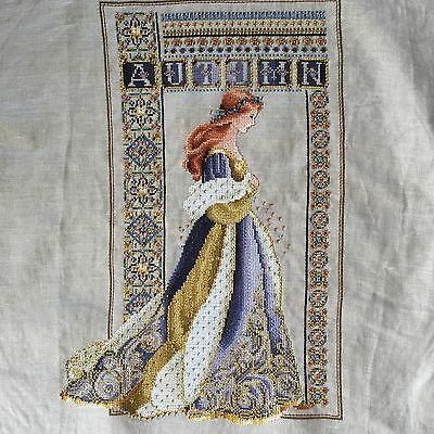 Lavender & Lace Celtic Autumn Completed Cross Stitch