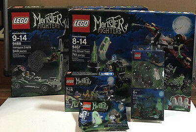 Lego Monster Fighters Lot  9467,9468,9462,30201,850487,Retired. New in box