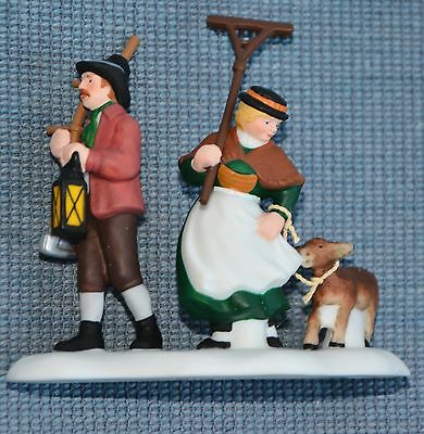 """Department 56 Alpine Village """"Back From the Fields"""" Retired, New in Box"""